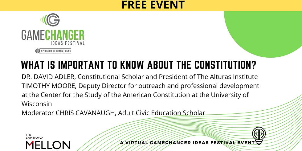 APRIL 22 - GameChanger Ideas Festival Event with Dr. David Adler and Tim Moore