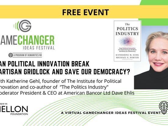 JAN 21 - GameChanger Ideas Festival Event with Katherine Gehl