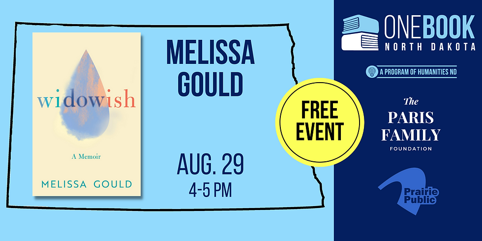 AUG 29 ONE BOOK, ONE ND featuring Melissa Gould
