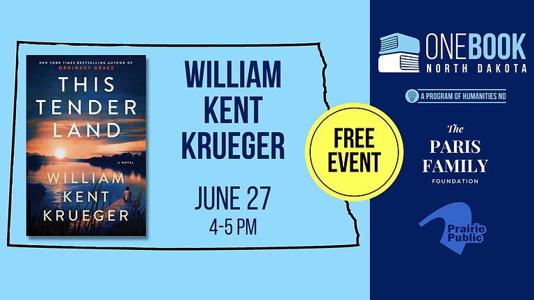 JUNE 27 ONE BOOK, ONE ND featuring William Kent Krueger