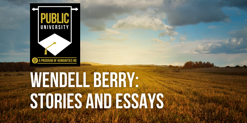 Wendell Berry: Stories and Essays