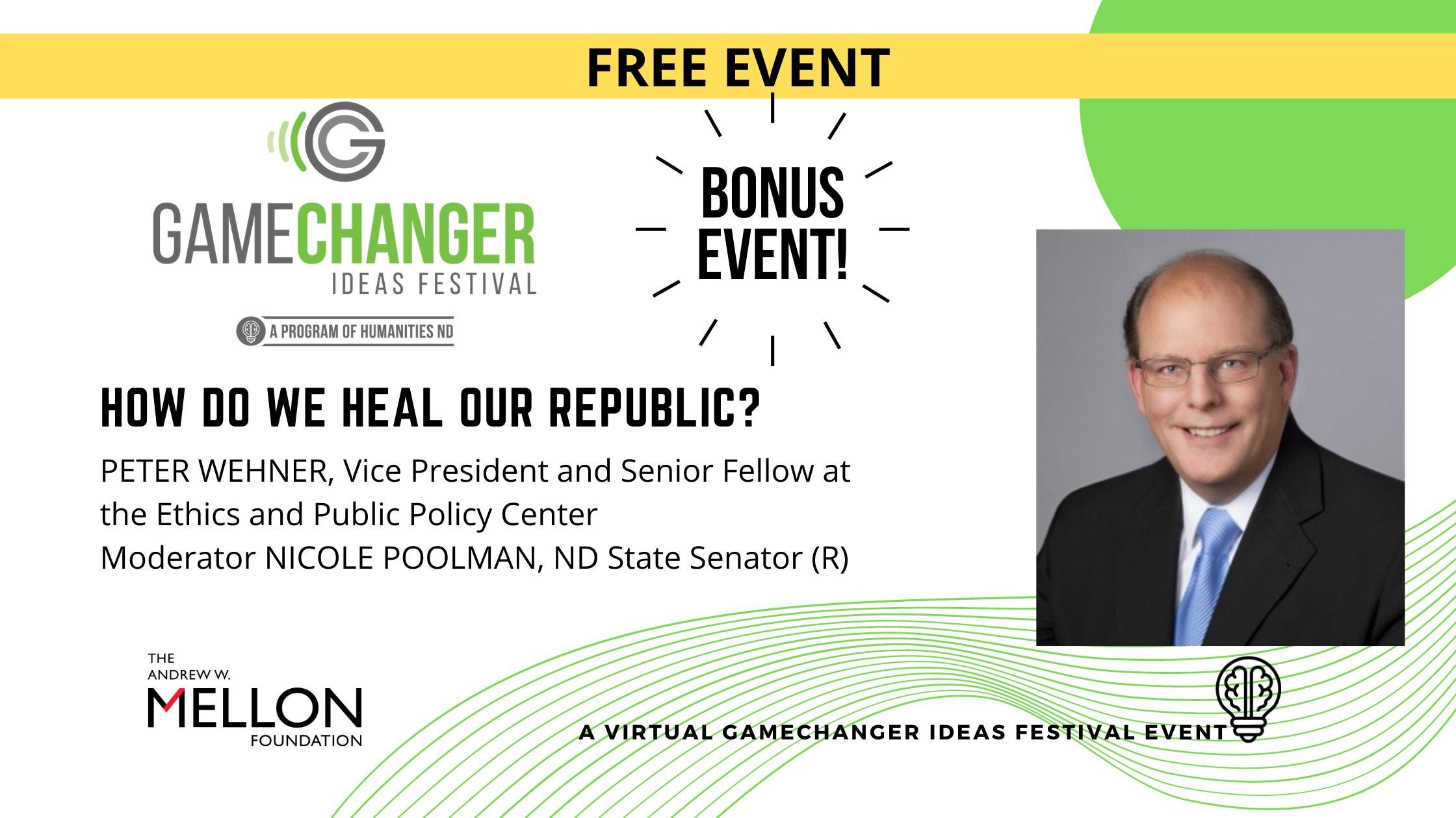 Pete Wehner bonus event