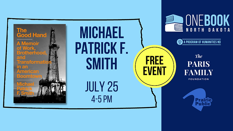 JULY 25 ONE BOOK, ONE ND featuring Michael Patrick F. Smith