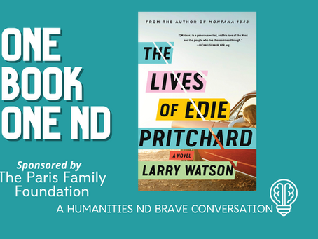 September 27, 2020: Larry Watson - The Lives of Edie Pritchard