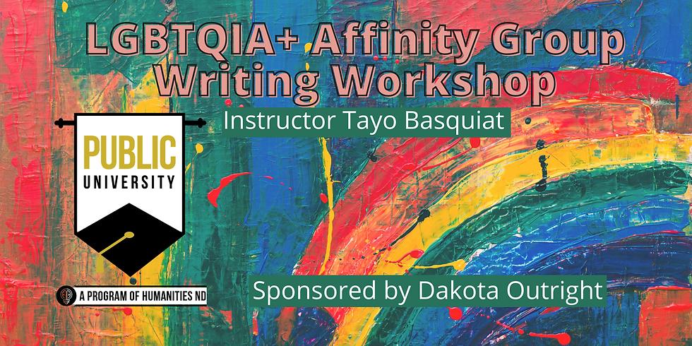 JAN 21 - LGBTQIA+ Affinity Group Writing Workshop