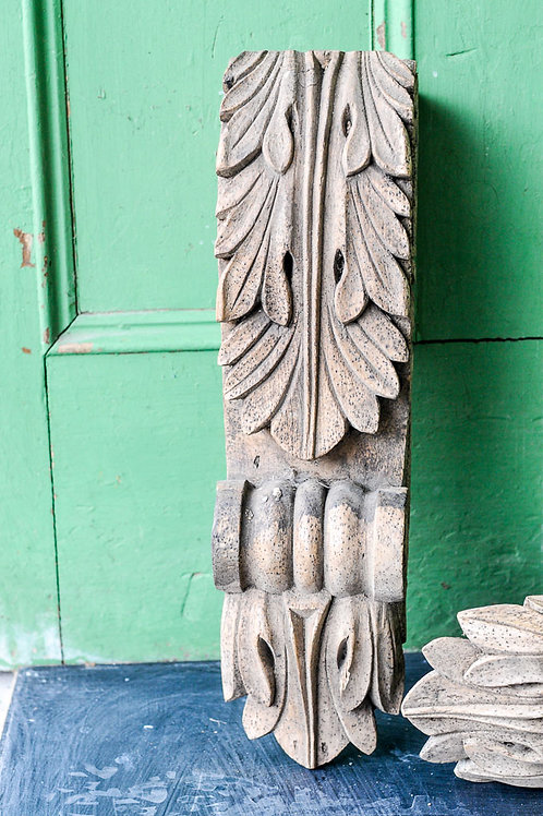 Reclaimed Pair of Wooden Corbels