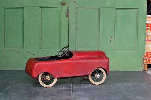Vintage Child's Tin Pedal Car