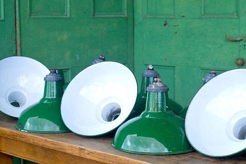 Vintage Green Industrial Lights