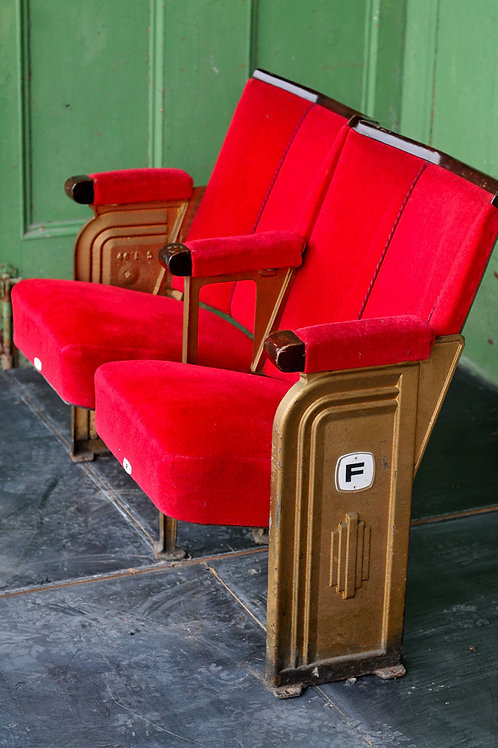 Vintage Art Deco Cinema Seats