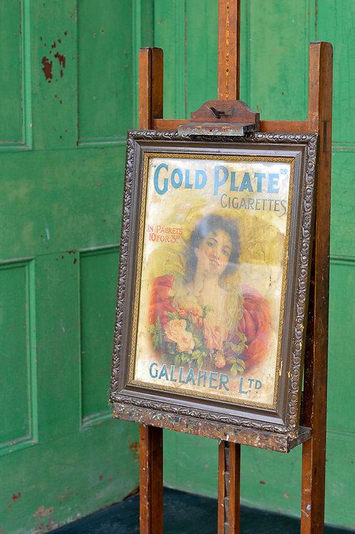 Vintage Gold Plate Cigarettes Print
