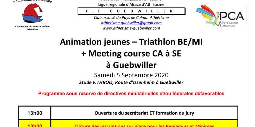 Animation jeunes Triathlon BE / MI FC Guebwiller