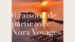 Voyagez ✈ avec Nura voyages partenaire de l'ESRCAC