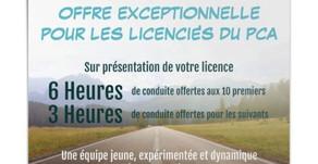 PARTENARIAT  ✍️  - Offre exceptionnelle pour les licenciés du PCA 👍