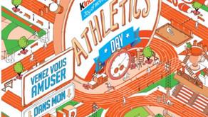 ➡️  Kinder Joy of Moving Athletics Day du vendredi 18/09/20 au stade avec l'ESRCAC