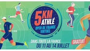 🏃♀️🏃 5 km athlé - Open de France virtuel : un grand défi pour lancer la saison