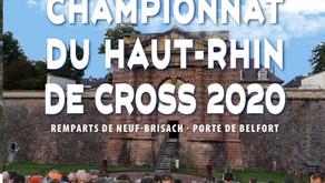 🔉Rdv pour le championnat du Haut-Rhin de cross dans les remparts de Neuf-Brisach le 12/01/20