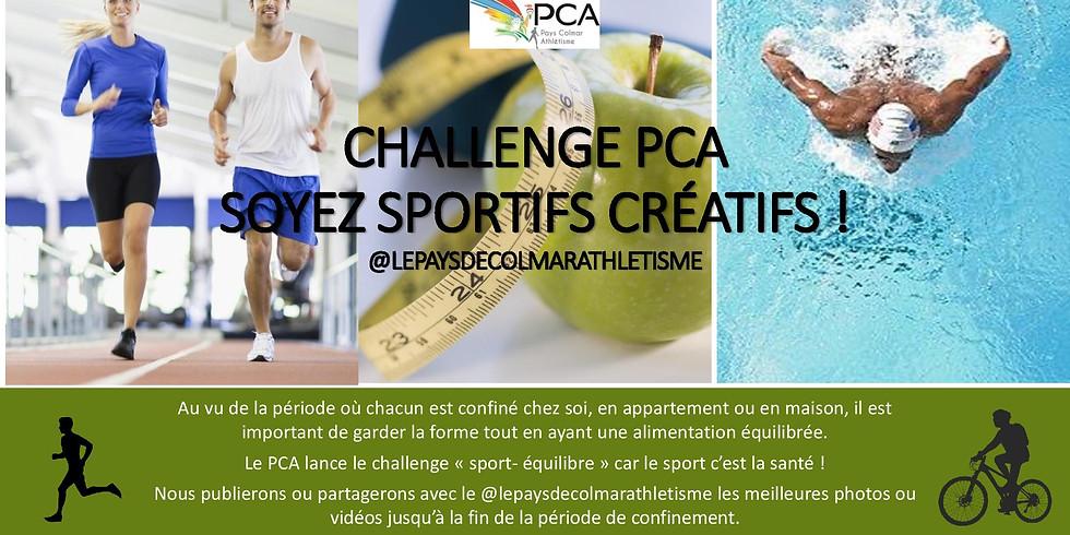 Challenge PCA SOYEZ SPORTIFS CREATIFS depuis le 20 mars