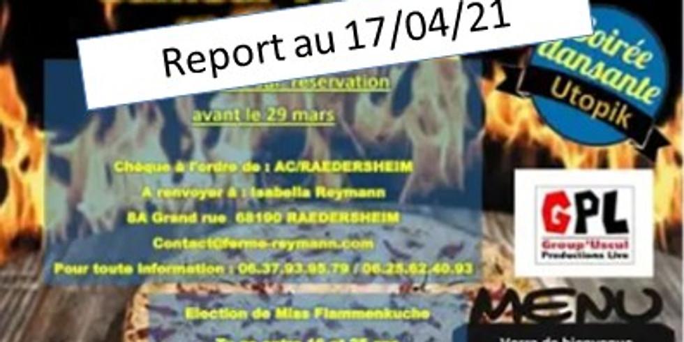 ⚠️ Report en 2021⚠️Soirée Tartes Flambée à volontée organisée par le club AC Raedersheim (1)