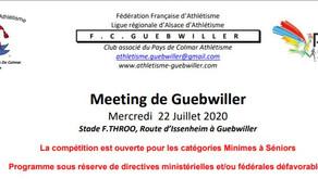 🏃♀️🏃 FC Guebwiller : le meeting de la reprise mercredi 22 juillet 2020