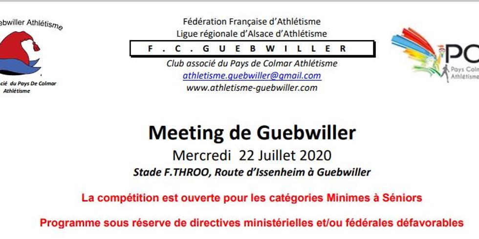 Meeting du FC Guebwiller - voir détail dans la page actualité du site