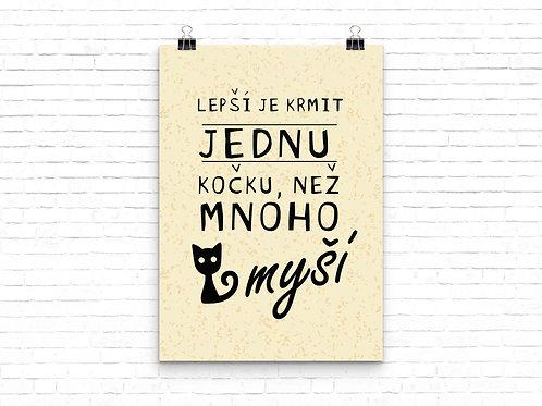 """Plakát """"KOČKA"""" / Cat Poster A3"""