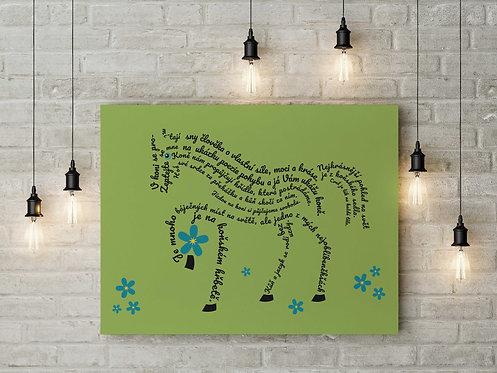 """Plakát """"KŮŇ""""/ Horse Poster A3"""