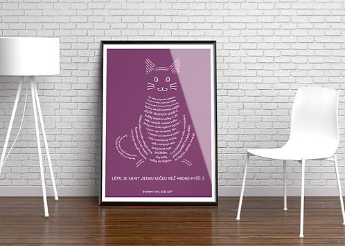"""A2 Poster """"CAT""""/ Czech version"""