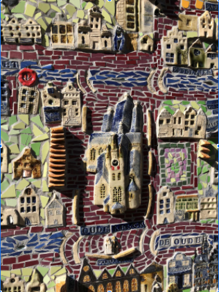 Tour a Dutch city by way of a Ceramic Map. Nan guides you around her community-built creation