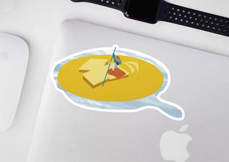 Cornbread Sticker
