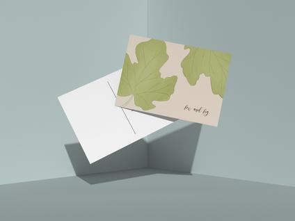 Fig Leaves Postcard