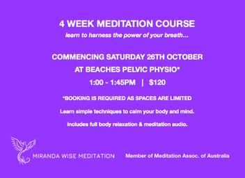 4 Week Meditation Course