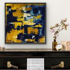"""""""Golden fall"""" 80x80 cm 8.500 kr"""