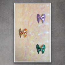 """""""Butterflie ladies"""" 70x120 cm 5.500 kr"""