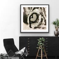 """""""Tiger eye"""" 100x100 cm 10.500 kr"""