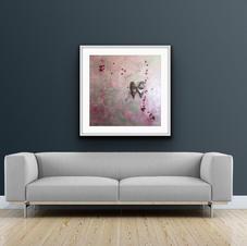 """Pink lady"" 80x80 cm 9.500 kr"