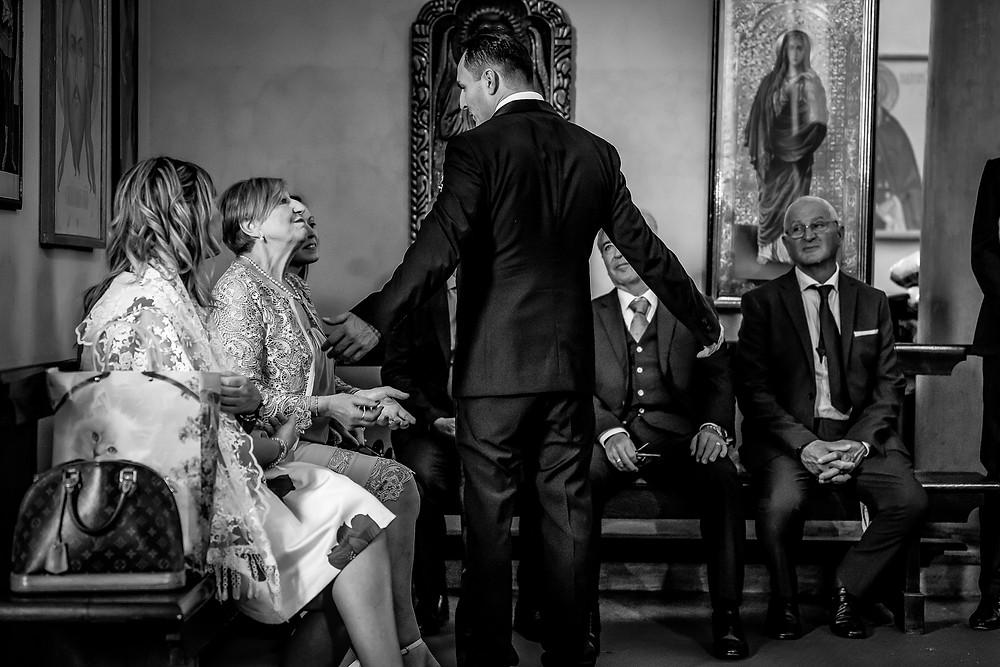 Sposo fotografia bianco e nero