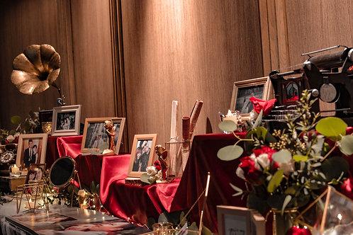 Crimson Elegance Table Prop Rental