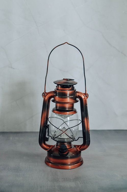 Vintage Oil Glass Lamp (Battery Operated)