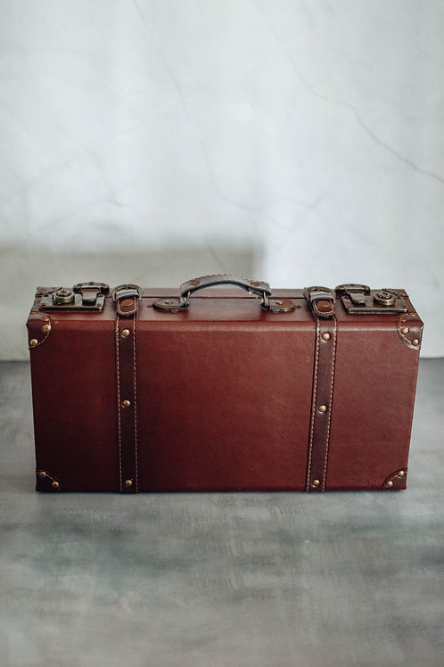 Vintage Leather Briefcase Box