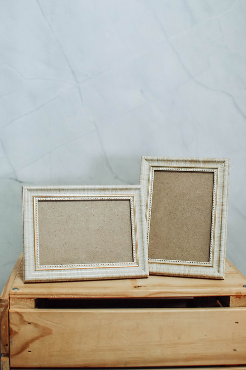 3R Gold Trim Light Wood Photo Frame