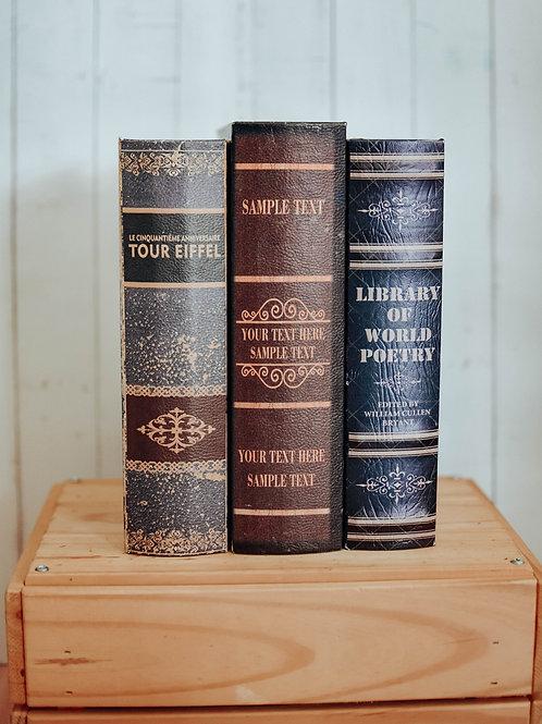 Vintage Book Storage Box