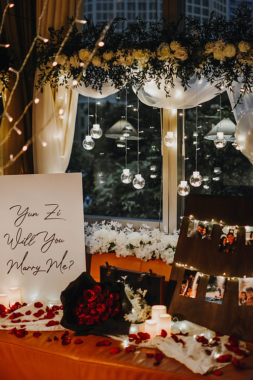 Rose Luxe Proposal Prop Rental