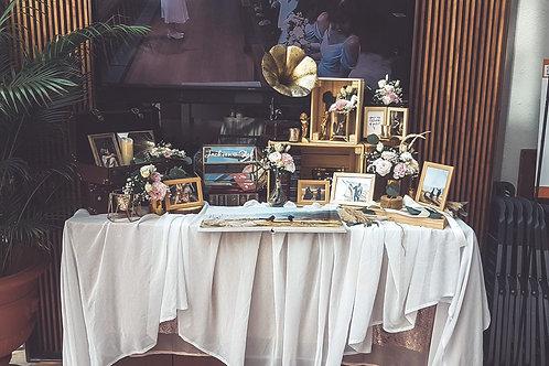 Rustic Industrial Table Prop Rental