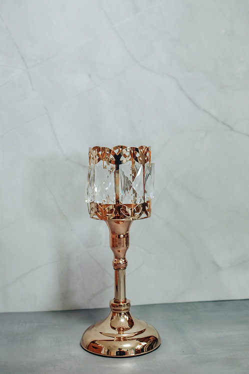 Gold Crystal Tea Candle Holder