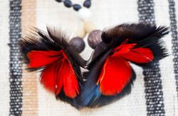 Artisanat collier plume