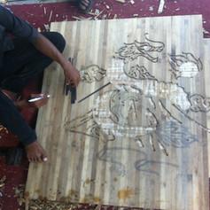custom floor inlay