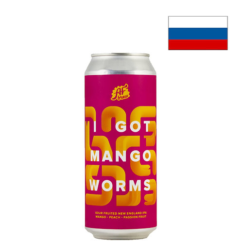 Пиво AF Brew I Got Mango Worms | Аф Брю Манго Вормс | 500 мл | ж/б - CHILL