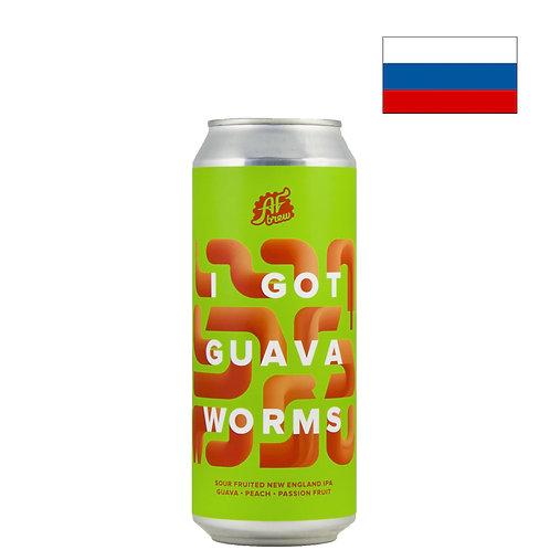 Пиво AF Brew I Got Guava Worms | АФ Брю Гуава Вормс | 500 мл | ж/б - CHILL