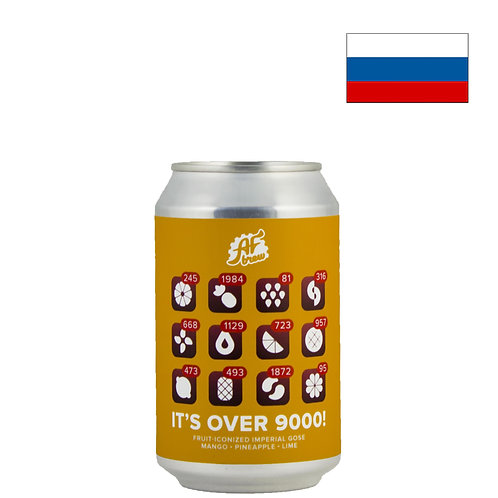 Пиво AF Brew It's Over 9000! Mango Pineapple Lime   330мл   ж/б - CHILL