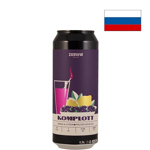 Пиво Zagovor Komplott: Cassis & Citron | 500 мл | ж/б - CHILL